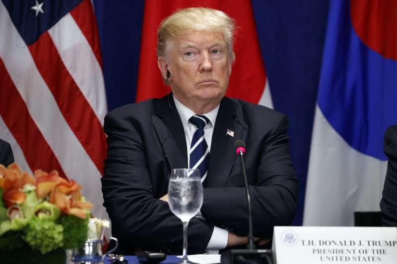 最近因北韓問題,川普說了一堆粗話、狠話,但可能看不懂金正恩罵他的文言文。(AP,資料照)