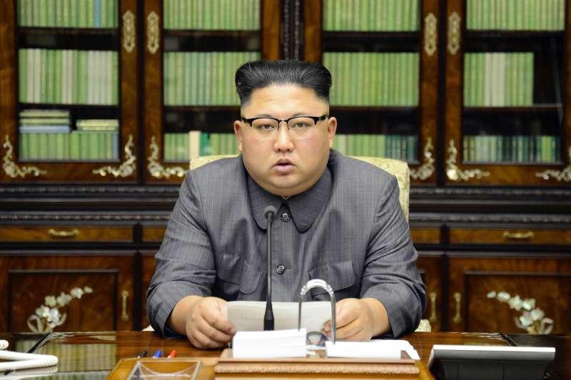 2017年9月21日,北韓最高領導人金正恩發表聲明譴責美國總統川普。(AP)