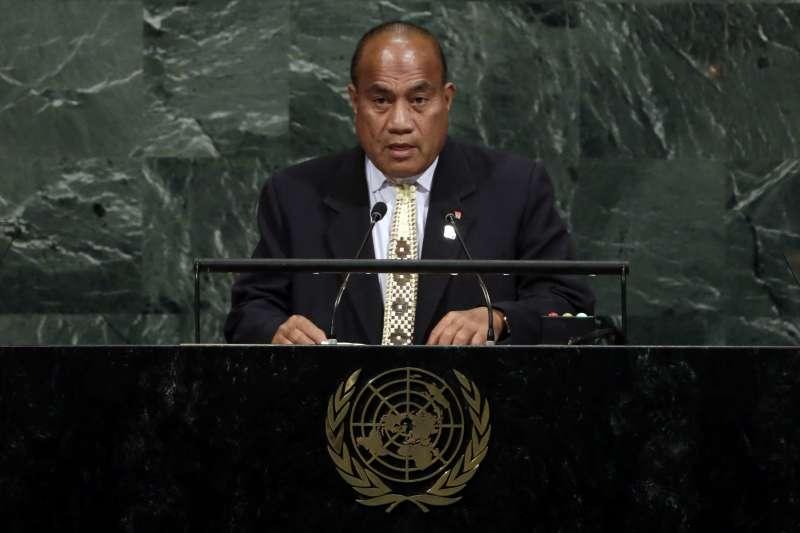 台灣友邦吉里巴斯總統馬茂(Taneti Maamau)2日在聯大總辯論要求聯合國提改革方案,讓台灣融入全球大家庭(AP)