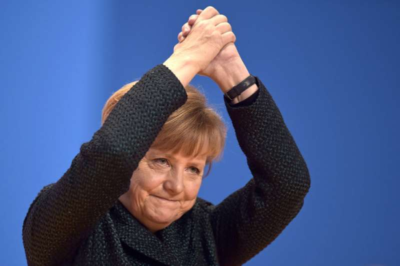 德國現任總理梅克爾,將在即將到來的2017年大選尋求第四度連任。(AP)