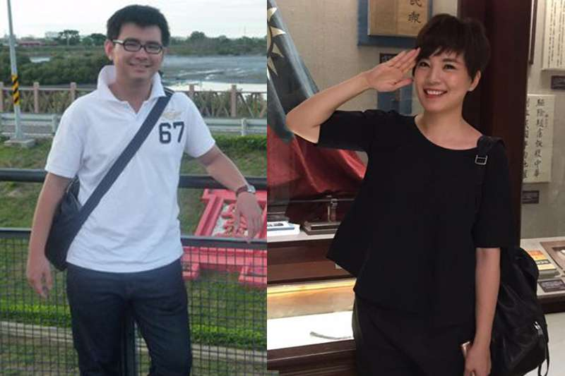 國民黨新媒體部主任黃健豪(左)、TVBS主播鍾沛君,都在發言人團之列。(取自黃健豪、鍾沛君臉書/影像合成:風傳媒)