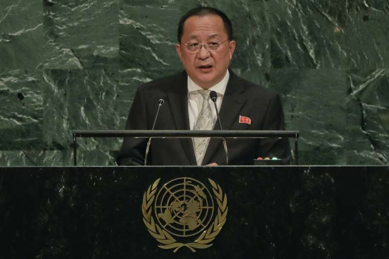 北韓外長李勇浩(AP)