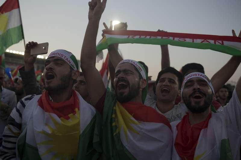 伊拉克庫德族自治區在2017年9月25日舉行獨立公投(AP)