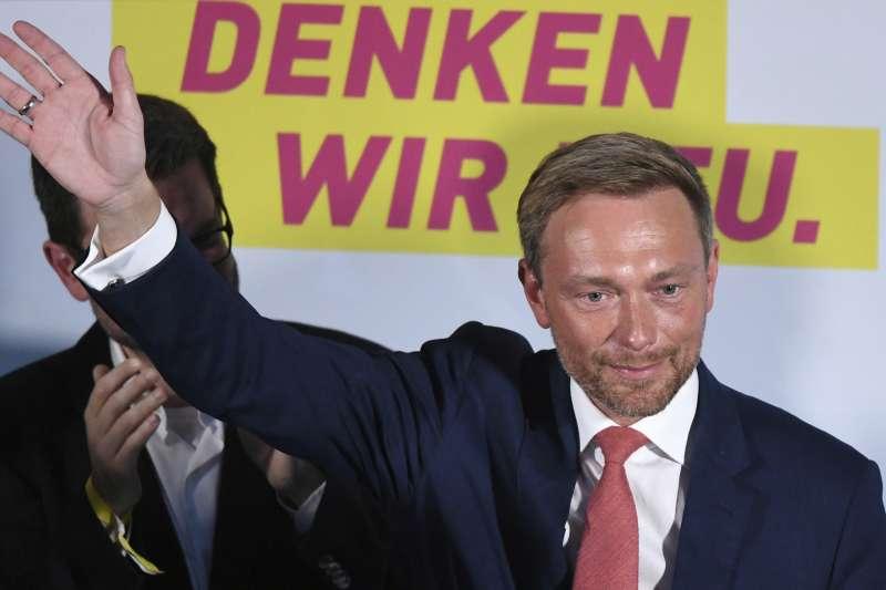 2017德國大選:自由民主黨(FDP)可能不參與組閣,圖為FDP黨魁林德納(AP)