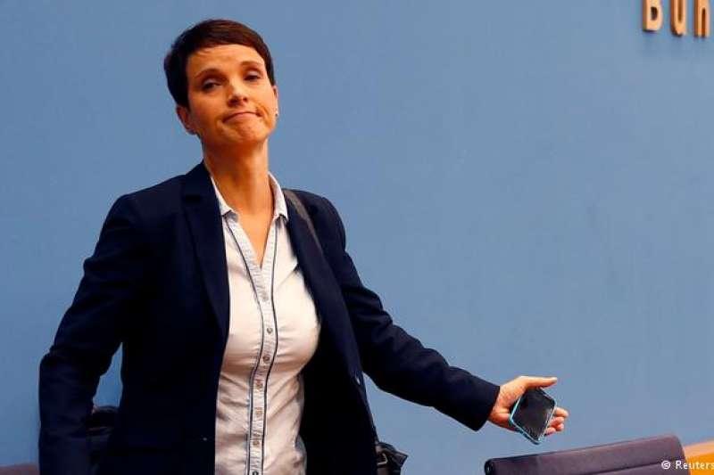 德國極右派「另類選擇黨」前黨魁佩特里。(德國之聲)