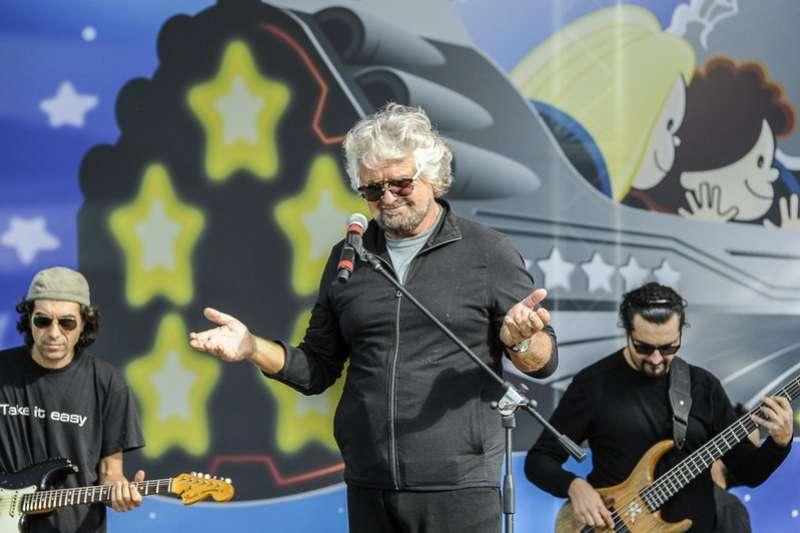 民粹政黨「五星運動」的創始人格里羅(Beppe Grillo)。 (美聯社)