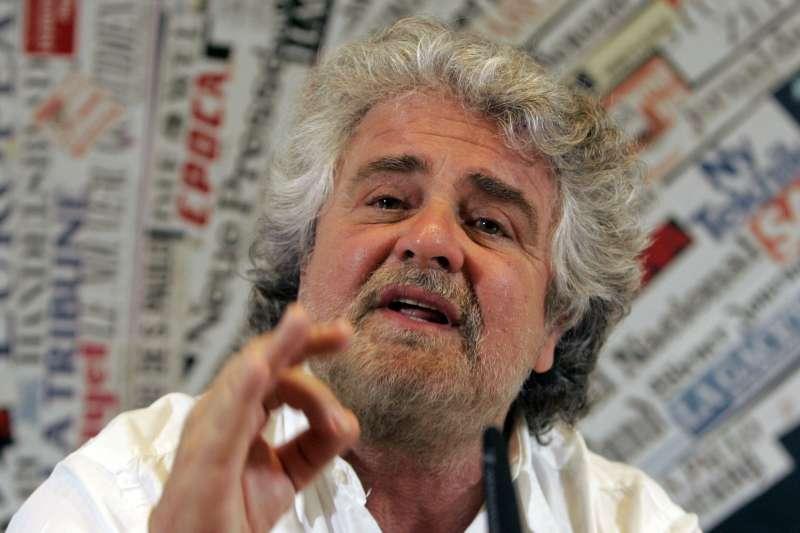 義大利前喜劇演員格里羅創立了五星運動黨(AP)