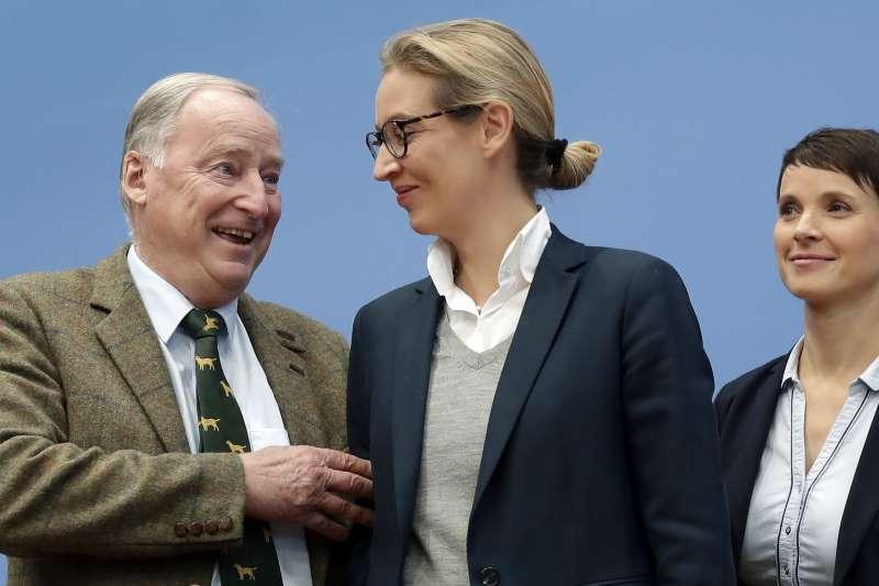 德國另類選擇黨(AfD)在2017年大選突飛猛進(AP)