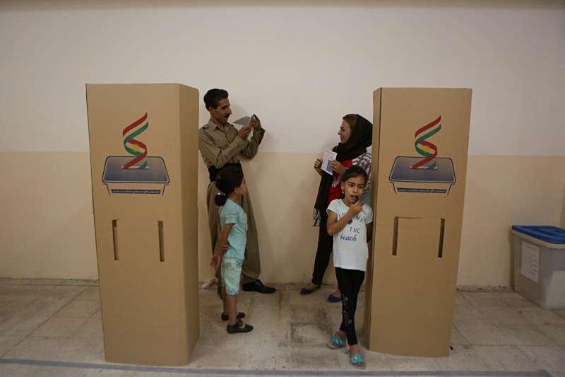 伊拉克的庫德族自治區25日舉行獨立公投。(美聯社)