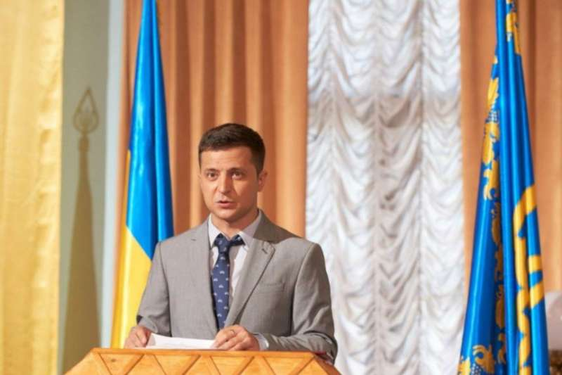 烏克蘭電視政治諷刺喜劇《人民公僕》劇照。(美國之音)