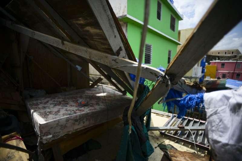 颶風重創波多黎各,街上一片廢墟。 (美聯社)