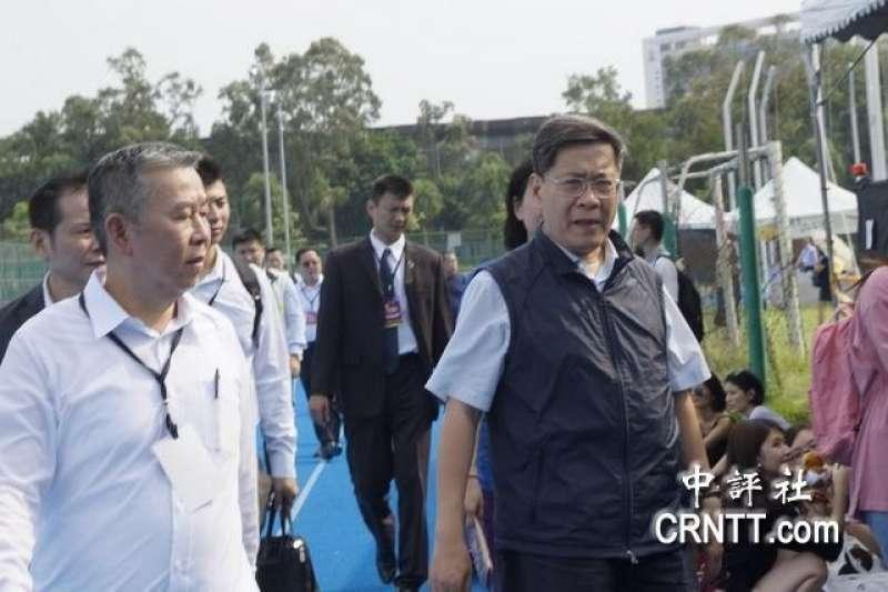 「中國新歌聲」活動原訂9月24日在台大舉行,《中評社》報導,上海市台辦主任李文輝(見圖)出現在現場。(中評社)