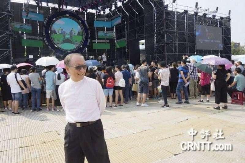 台北市政府文化局協辦「中國新歌聲」節目,沒想到在台大濺血。上海市台辦主任李文輝、新黨主席郁慕明(見圖)、無黨聯盟立委高金素梅等人均在現場。(資料照,中評社)