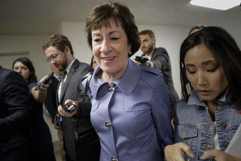 廢除歐巴馬健保:美國緬因州聯邦參議員柯林斯反對替代法案(AP)
