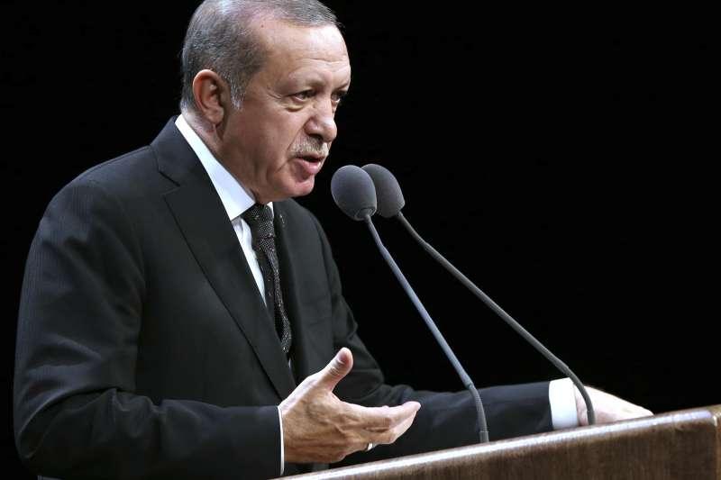 土耳其總統艾爾多安在電視上聲明,伊拉克庫德族獨立公投將引發「民族與教派之戰」。(美聯社)