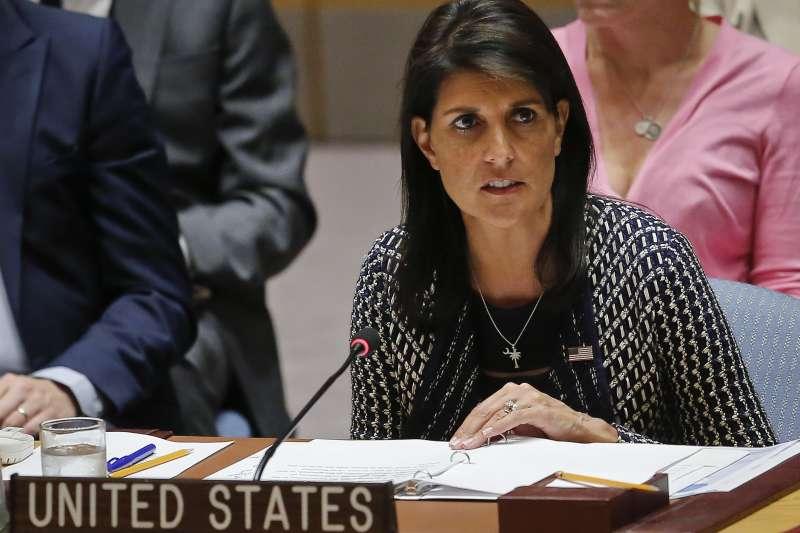 美國駐聯合國大使海莉(Nikki Haley)。(美聯社)