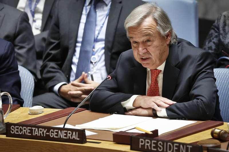 聯合國秘書長古特雷斯(Antonio Guterres)。(美聯社)
