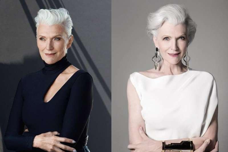 69歲接獲美妝品牌代言的梅耶.馬斯克(Maye Musk)表示:「美麗其實屬於每個年紀的所有女性,我等不及要與大家一起走向這段很棒的旅程!」