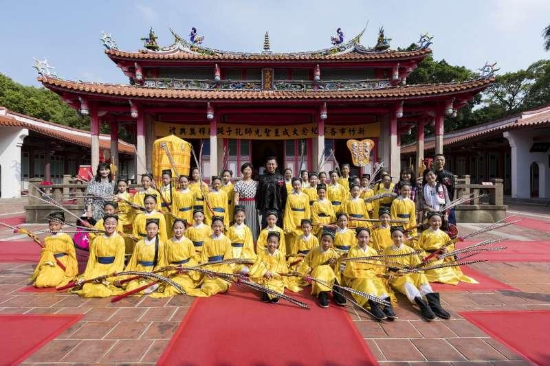 竹市各界28日於孔廟舉行紀念大成至聖先師孔子釋奠典禮。(圖/新竹市政府提供)