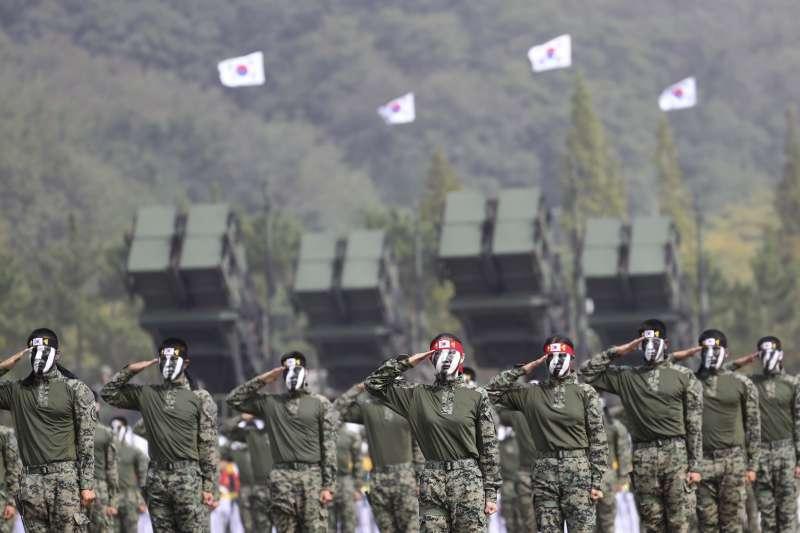南韓的愛國者飛彈部隊。(美聯社)
