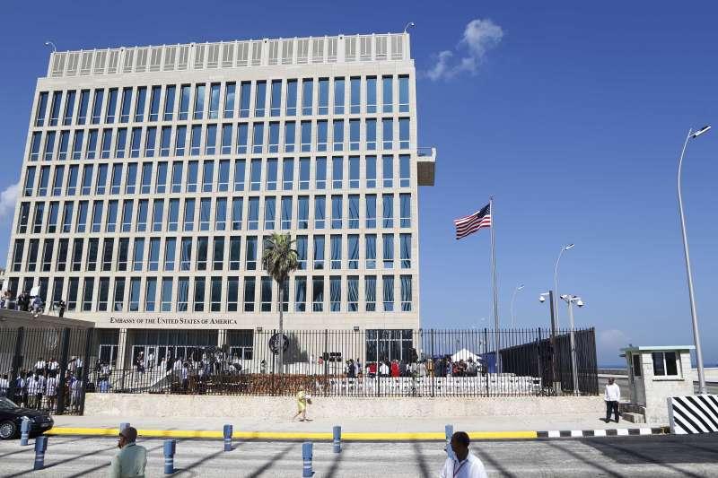 古巴首都哈瓦那的美國大使館(AP)