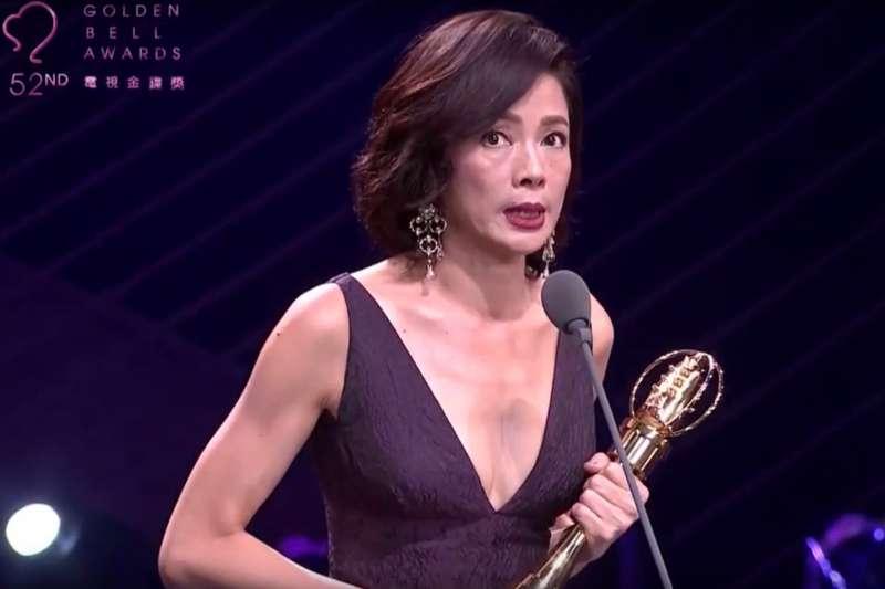 第52屆金鐘獎女主角獎則為植劇場《戀愛沙塵暴》女星柯淑勤。(取自三立新聞畫面)