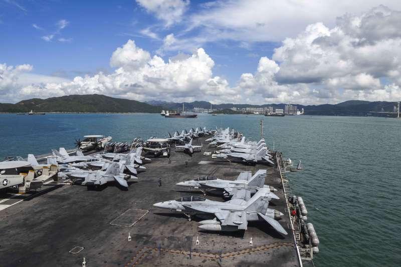 美軍雷根號航空母艦訪問香港。(美國海軍官網)