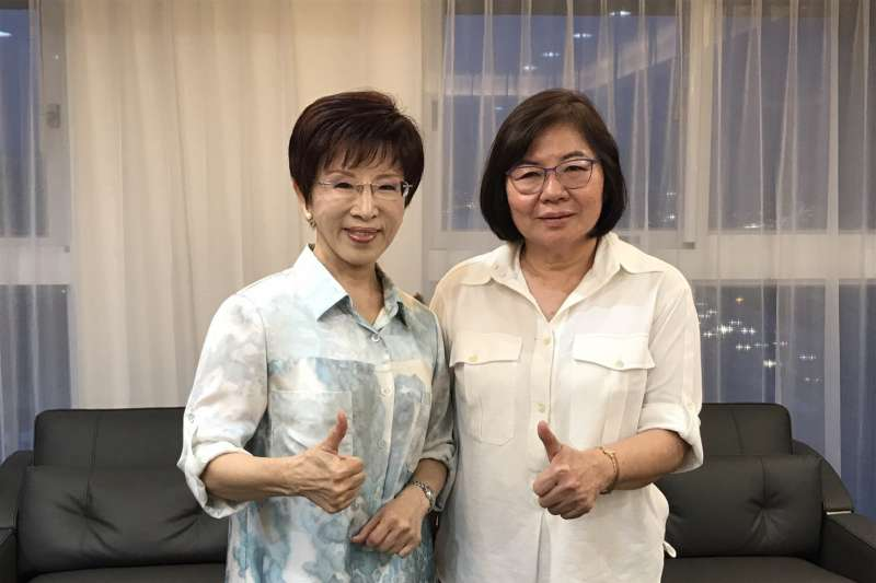 20171004-前主席洪秀柱(左)與前民政局長黃呂錦茹(右)。(黃呂錦茹辦公室提供)