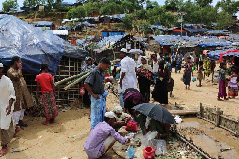 孟加拉南部科克斯巴扎爾的羅興亞難民營(AP)