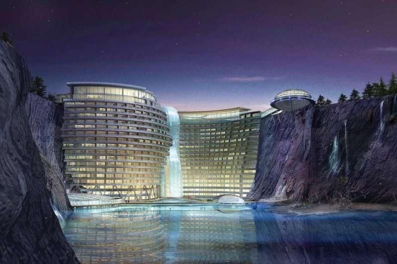 上海‧世茂洲際仙境酒店已成為世界矚目的綠建築之一,與天然環境結合的設計,非常有特色。(圖/elitereaders)