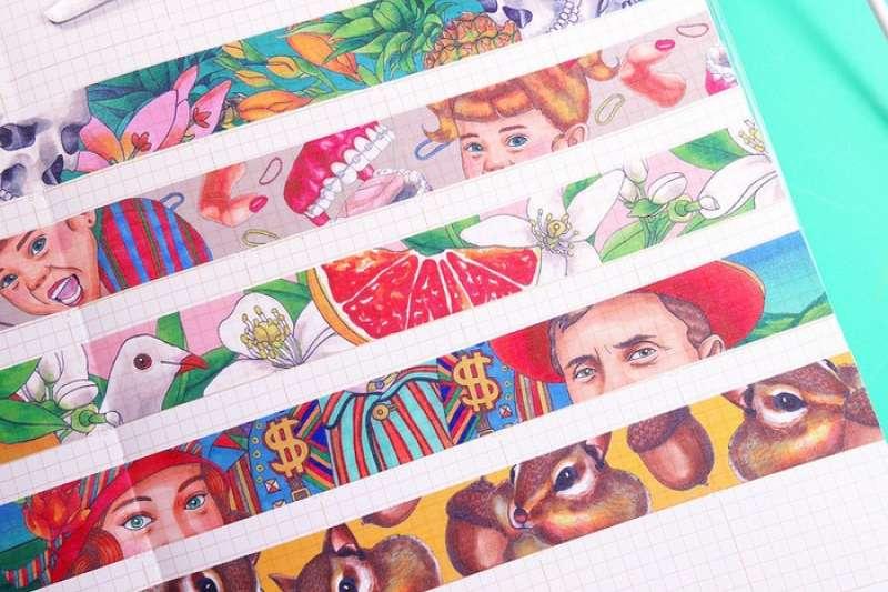 可愛的紙膠帶隨時可以用來點綴你的生活。(圖/pinkoi)