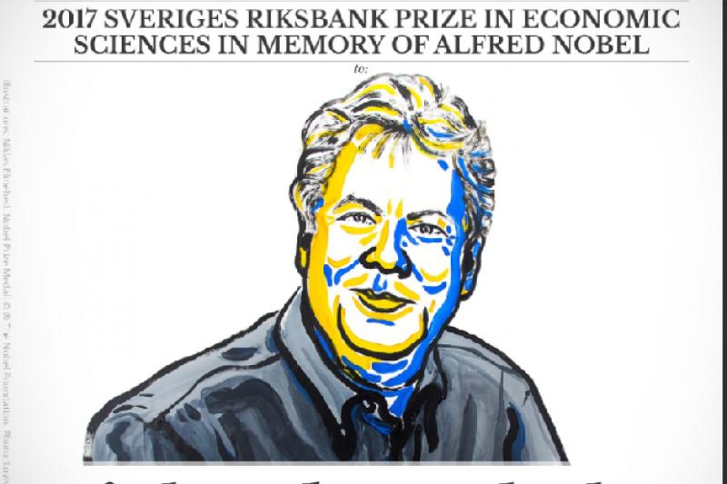 2017年諾貝爾經濟學獎得主理察塞勒(取自@NobelPrize/Twitter)