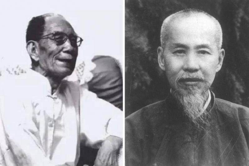 牟宗三(左)與熊十力(左)在1949年選擇了不一樣的路,結局大不相同。牟宗三與唐君毅等在港台架起新儒大旗,熊則在文革飽受迫害絕食而亡。