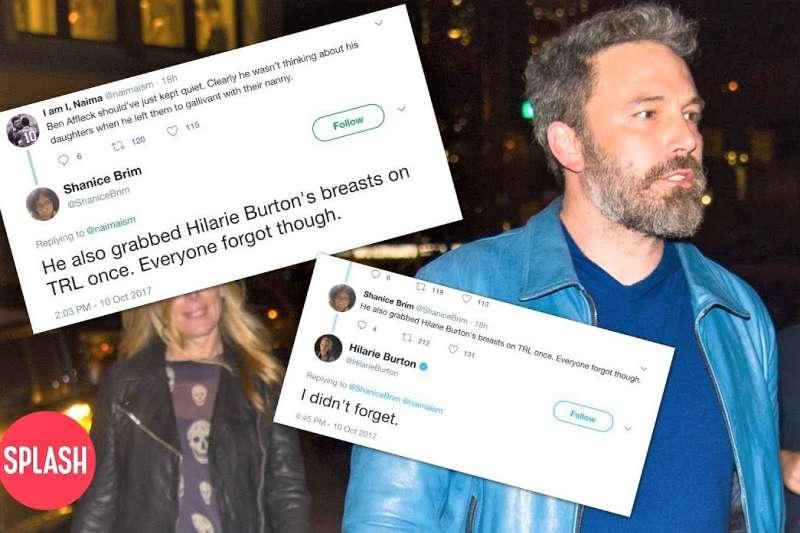 好萊塢演員班艾佛列克也因製片人哈維溫斯坦性侵事件,遭爆料過去曾對同台女星伸鹹豬手。(圖/Splash TV@youtube)