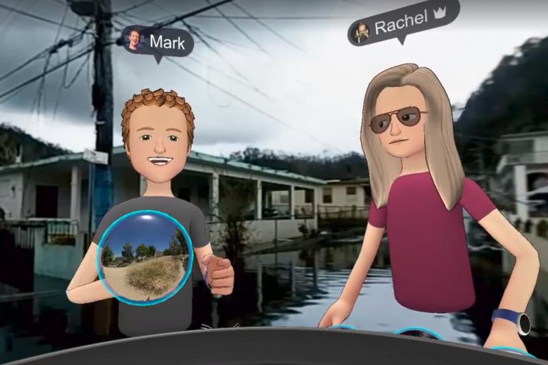 祖克柏日前以VR直播勘查波多黎各災區,引發部分網友不滿。(圖/截自Mark Zuckerberg Facebook)
