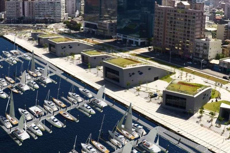 臺灣港務公司與高雄市政府攜手合作,預計投入約5億元打造全臺灣最大規模之遊艇碼頭專區。(圖/台灣港務公司提供)