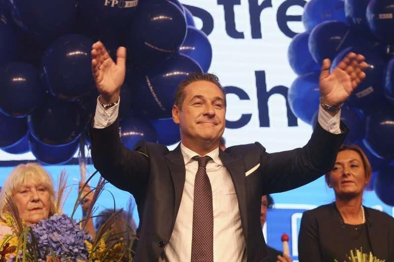 奧地利大選:極右派自由黨睽違逾10年再度入閣,圖為該黨黨魁史垂奇(AP)