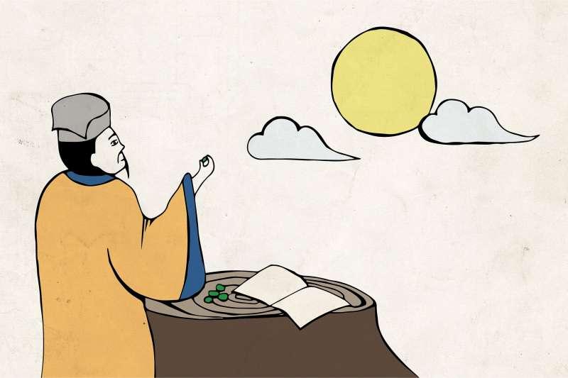 蘇軾被貶官到海南島的時候,開始大吃檳榔,甚至寫詩歌詠它醺然滋味。究竟檳榔對他來說有什麼功用呢?(示意圖/黃楷元、張語辰繪)