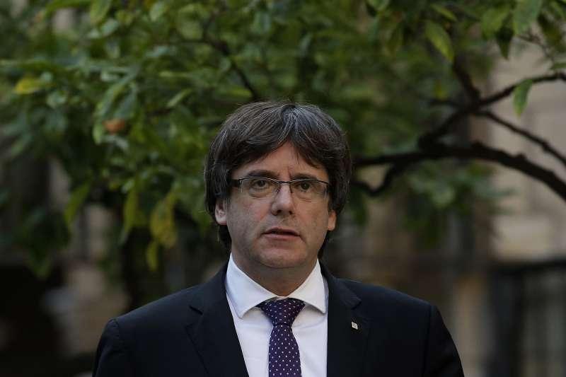 加泰隆尼亞自治政府主席普吉德蒙仍未明確回應是否已獨立(AP)