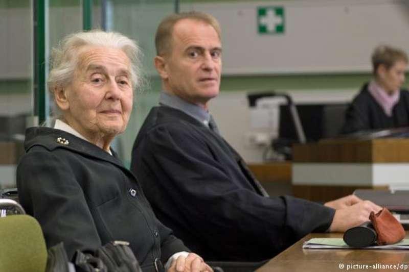 被稱為「納粹奶奶」的烏爾蘇拉‧哈佛貝克(Ursula Haverbeck)。(德國之聲)