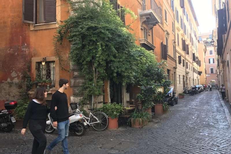 義大利羅馬卡拉瓦喬足跡:Della Lupa小館,據說是卡拉瓦喬常去的餐館(曾廣儀攝)