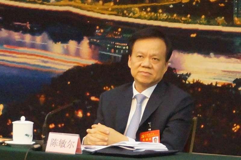 20171019-中共十九大,重慶市委書記陳敏爾。(王彥喬攝)