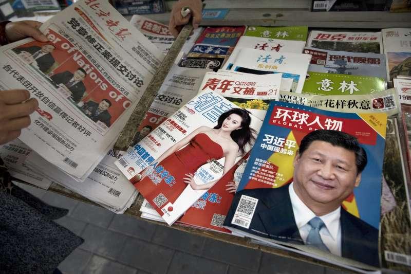 中國媒體(資料照,AP)