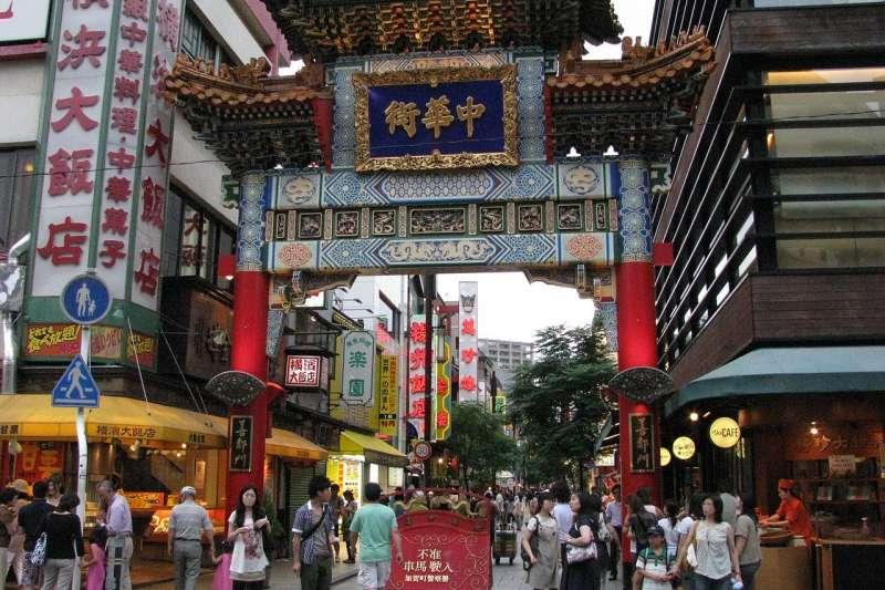 橫濱中華街的善鄰門。(Aimaimyi@wikipedia/CC BY-SA 3.0)