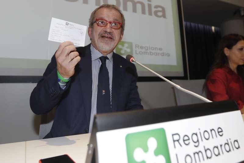 義大利地方公投:倫巴底大區政府主席馬洛尼(AP)