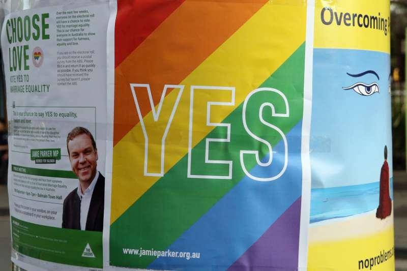澳洲同性婚姻「郵寄公投」結果將於11月15日揭曉(AP)