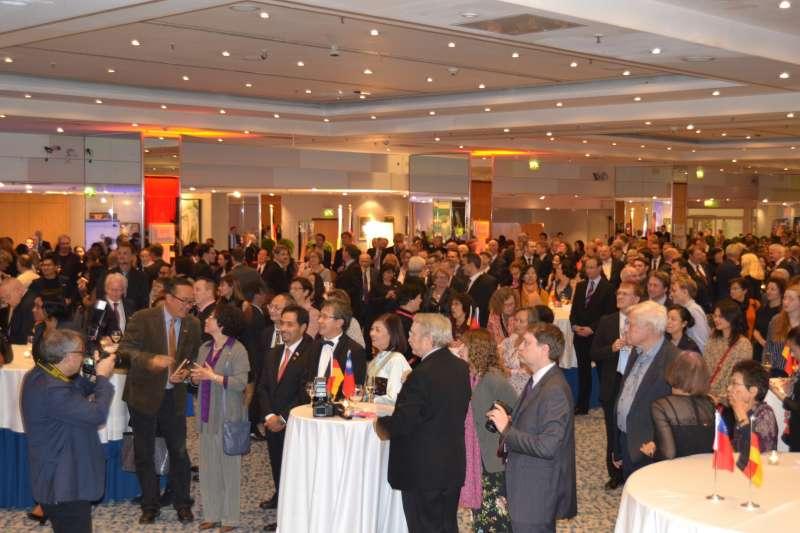 駐德國代表處10月10日晚間6時於柏林市中心Maritim ProArte Hotel舉辦中華民國106年國慶酒會。(取自駐德國代表處)