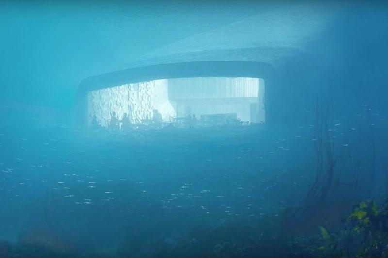 歐洲的第一家海底餐廳「Under」2019年即將在北歐挪威開幕。 (截自Wochit News)