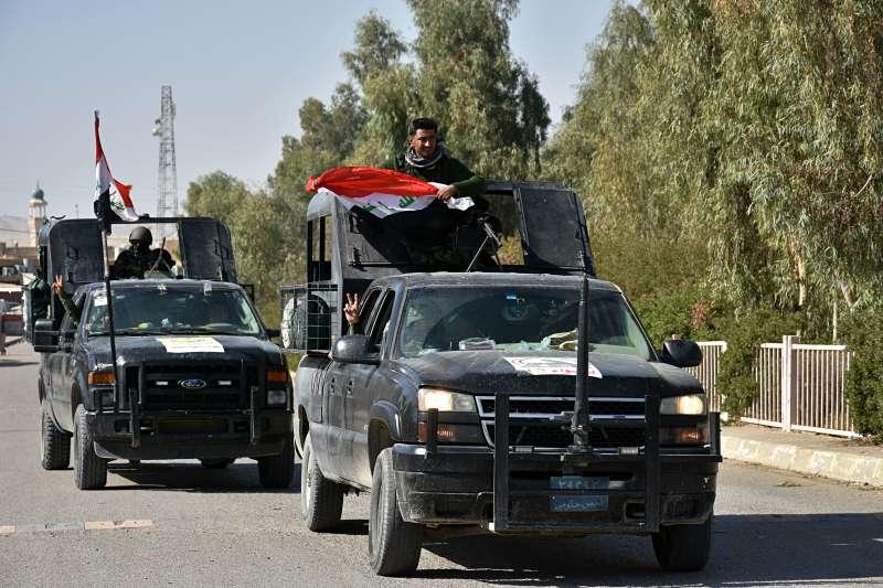 伊拉克軍隊上週拿下庫德族佔領的石油大城基爾庫克。(美聯社)