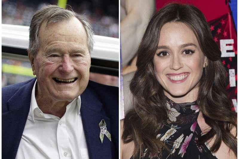 美國女星希瑟林德控訴曾遭前總統老布希性騷擾(AP)